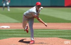 Philadelphia Phillies starting pitcher Nick Pivetta delivers a pitch to the St. Louis Cardinals in the third inning at Busch Stadium in St.…