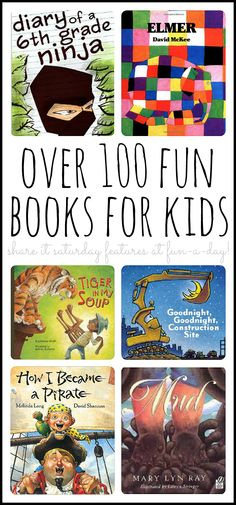 Collection of books for kids to get into reading!  Share it Saturday features.