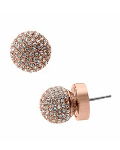 Michael Kors Rose Golden Fireball Earrings.