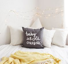 Baby it's Cold Outside Throw Cushion Cover by ZanaProducts on Etsy