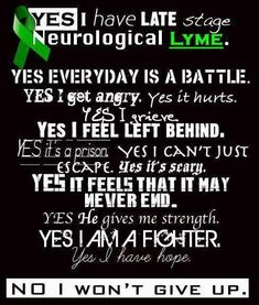 Posting this one for you, Michelle! Praying for you and the many other Lyme sufferers out there!