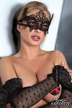 LivCo Corsetti Venezianische Maske schwarz , Modell:Model 2