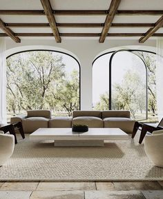 Modern Interior Design, Interior Architecture, Interior And Exterior, Arched Windows, Beautiful Living Rooms, My New Room, Home Fashion, Home Decor Inspiration, My Dream Home