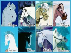 Disney horses- I LOVE Maximus.  Major and Philippe are pretty funny.