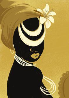 — Orishas 2018 by Andressa Meissner Art And Illustration, Black Women Art, Black Art, Afrique Art, Orisha, Arte Pop, Oeuvre D'art, Female Art, Les Oeuvres
