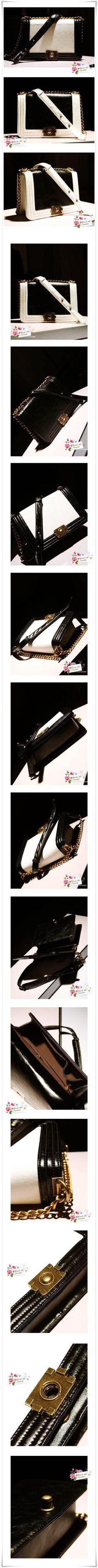 Chanel Designer Inspired Black & White Two Tone Vintage Shoulder Bag / Messenger Bag Only $40 & Free Shipping! #fashion #chanel