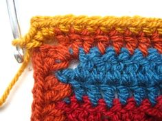Crocheting blanket edgings is one of my most favourite things, I love the challenge of choosing exactly the right colours and designing exactly the right sort of finish to complete the blanket. This edging was designed specifically for the Cosy. Crochet Blanket Border, Crochet Blanket Patterns, Crochet Blankets, Scrap Yarn Crochet, Knit Crochet, Crochet Flower Patterns, Crochet Flowers, Hobbies And Crafts, Knits