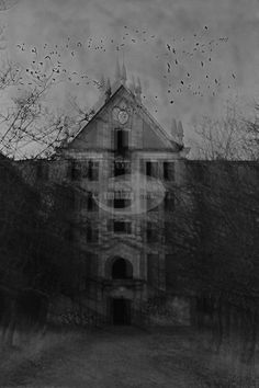 pic of black white photos abandon places | haunted abandoned place in black and white with some distortion and ...