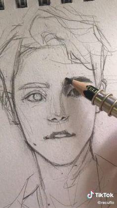 Art Drawings Beautiful, Dark Art Drawings, Art Drawings Sketches Simple, Pencil Art Drawings, Realistic Drawings, Sketches Tutorial, Drawing People, Art Sketchbook, Portrait Art