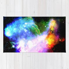 nebula rug/nebula throw rug/space rug/sky by haroulitasDesign