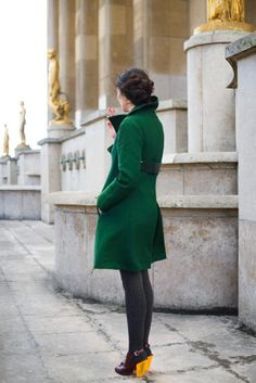 forest green. have a similar coat buried in my closet.