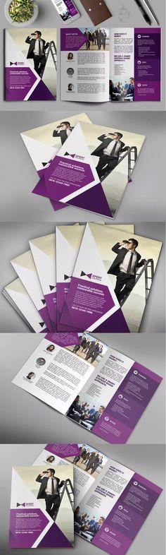 Bifold Brochure Template PSD - A3
