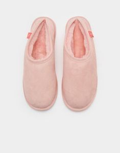 Joules UK COZIES Womens Suede Slippers Blush Pink