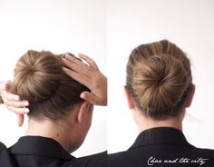 the donut bun. because you can have fun with your hair always up for work.