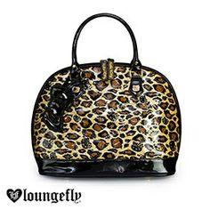 Hit the spot with a roar with a #Loungefly x Hello Kitty leopard patent embossed tote bag and wallet. Get yours today:http://www.loungefly.com/brands/hello-kitty/bags/hello-kitty-leopard-patent-embossed-tote-bag.html