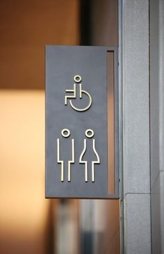 Four Seasons Hotel Toilet Signage, Door Signage, Wayfinding Signage, Signage Design, Bathroom Signage, Hotel Signage, Office Signage, Minimalist Toilets, Environmental Graphic Design