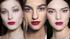 Shades of red ruled at Carolina Herrera, Burberry, and Dolce&Gabbana.  Imaxtree  - HarpersBAZAAR.com