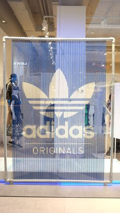 "Collated by Creative Connection. The concept of installation design for CC - ""installations"" board.adidas original pop-up store Sydney lace up logo Retail Signage, Wayfinding Signage, Signage Design, Retail Logo, Store Signage, Display Design, Booth Design, Store Design, Shop Window Displays"