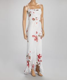 White & Red Floral Maxi Dress by Papillon Imports #zulily #zulilyfinds