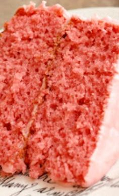 Simply Delicious Strawberry Cake with Strawberry Cream Cheese Frosting Recipe ~ Paula Deen... The best, absolutely delicious!