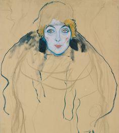 Design is fine. History is mine.      — Gustav Klimt, Head of a woman,1917/1918. Austria....