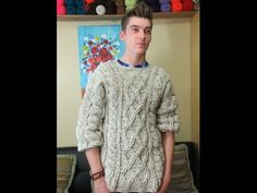 Crochet men's sweater part 3 of 3 - with Ruby Stedman