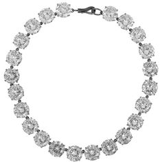 Bottega Veneta - Oxidized Sterling Silver Cubic Zirconia Necklace (1,335 CAD) ❤ liked on Polyvore featuring jewelry, necklaces, silver, cubic zirconia jewelry, cubic zirconia necklaces, cz necklace, bottega veneta necklace and bottega veneta