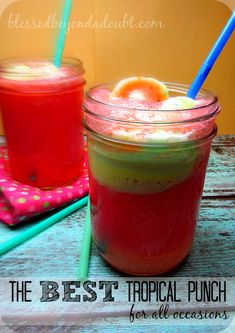 EASY Refreshing Tropical Punch Recipe
