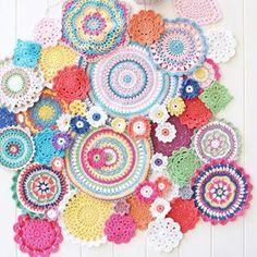 Crochet mandala patterns                                                                                                                                                                                 More