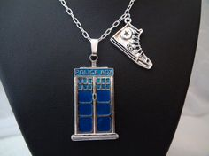 Doctor Who Tardis Silver Converse Charm Necklace. To all those Doctor Who fans out there!!