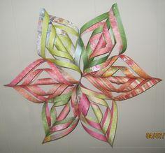 Origami Snowflake wall hanging.