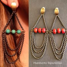 Humberto Bijouterias  earrings                                                                                                                                                                                 Mais