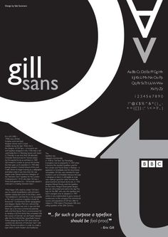 Betreff - Seite 5 - Seb Summers - Subject – Page 5 – Seb Summers Gill sans Typo Poster, Poster Fonts, Typographic Poster, Creative Typography, Typography Letters, Graphic Design Typography, Vintage Typography, Typography Quotes, Typography Inspiration