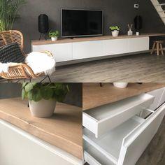 Tv Cabinet Ikea, Ikea Kitchen Cabinets, Tv Cabinets, Kitchen Units, Kitchen Drawers, Wall Mount Tv Cabinet, Ikea Tv Console, Wall Mounted Tv Console, Kitchen Ideas