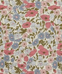 Liberty of London Wildflower Fabric COTTON Multi-colored Scarf SALE!