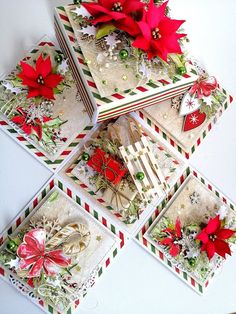 In a black dot Scrapbook Box, Exploding Box Card, Gift Wraping, Pop Up Box Cards, Fancy Fold Cards, Quilling Cards, Christmas Centerpieces, Card Making Inspiration, Artisanal