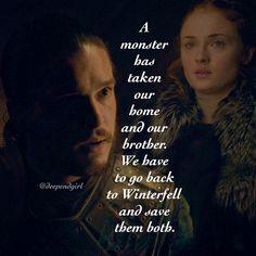 Jon Snow and Sansa Stark Game of Thrones