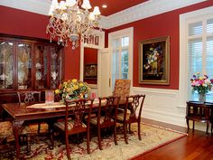 Dining Room On Pinterest Wainscoting Dining Rooms And Red Dining