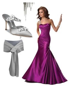 """Bella's ball gown"" by jen-gardiner on Polyvore featuring Manolo Blahnik"