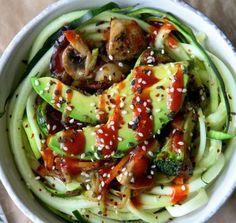 Korean BBQ Zoodle Stir-Fry Bowl