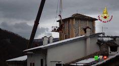 Vigili del Fuoco - Cascia (PG) - Messa in sicurezza campanile Chiesa S.A...