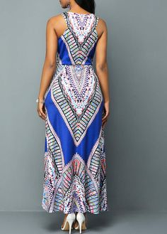 African fashion wear - A lovely blue/white/grey pattern midi dress. Affordable Dresses, Cheap Dresses, Casual Dresses, Fashion Dresses, Fashion Wear, Casual Outfits, African Inspired Fashion, African Fashion, Junior Formal Dresses