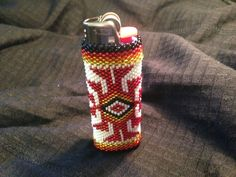 Beautiful Hand Beaded Native American Lighter by NativeArtsCrafts, $30.00
