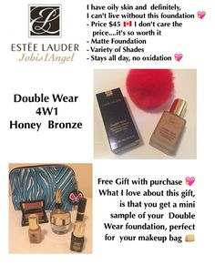 Double Wear, Matte Foundation, I Don't Care, Oily Skin, Free Gifts, Tips, Promotional Giveaways, Don't Care, Oil Control