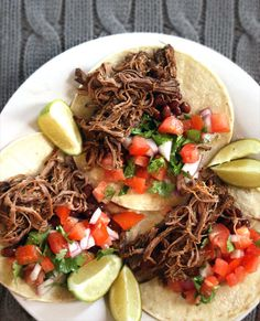 Recipe to Feed a Crowd: Slow Cooker Barbacoa Beef by the kitchn: Makes enough meat to stuff 30 tacos. #Beef #Slow_Cooker_Barbacoa_Beef #Tacos #thekitchn