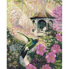 16×20 Paint By Number Kit – Garden Hummingbird « Blast Groceries