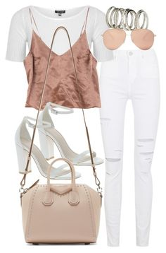 """Untitled #2162"" by eleanorwearsthat ❤ liked on Polyvore featuring Paige Denim, Topshop, ASOS, H&M, Givenchy and Victoria Beckham"