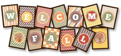 Free Welcome Fall Banner Printable coupons Diy Crafts To Do, Fall Crafts, Bug Crafts, Welcome Banner Printable, Fall Banner, Thanksgiving Banner, Thanksgiving Ideas, Holiday Ideas, Paper Banners