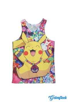 ac4f2391090 Original Pokemon Raver Pikachu in Kandiland All Over Print Tank Top -  RageOn! - The World s Largest All-Over-Print Online Store