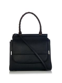 Leather and ostrich shoulder bag | The Row | MATCHESFASHION.COM